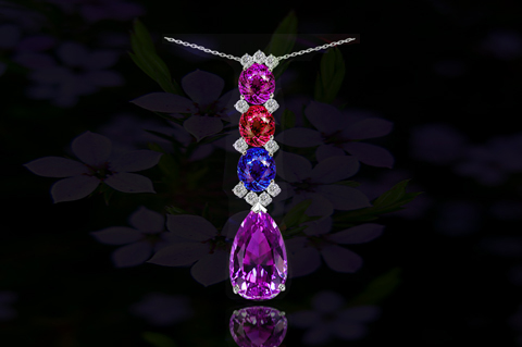Tanzanite, Tourmaline & Diamond